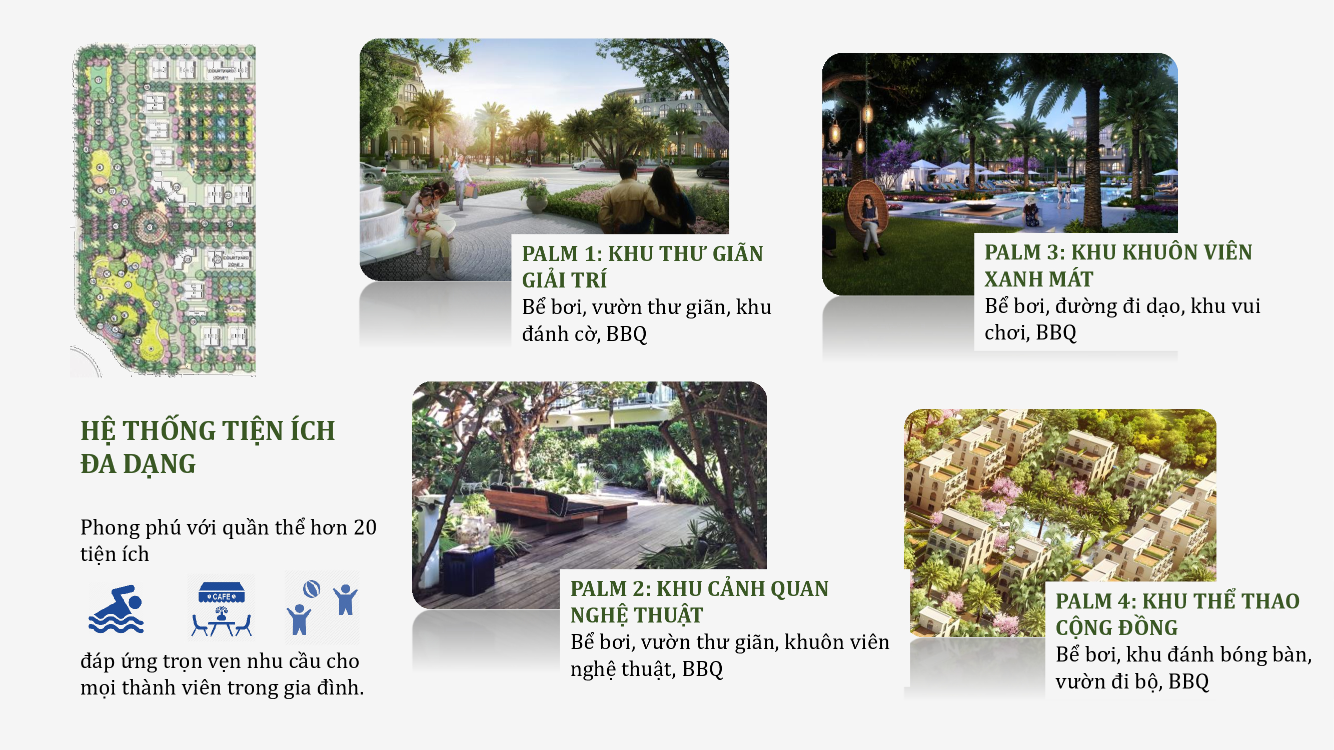 Hệ thống tiện ích Palm Garden Shop Villas Phu Quoc