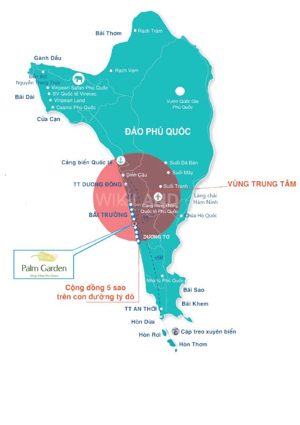 Vị-trí-Palm-Garden-Shop-Villas-Phú-Quốc